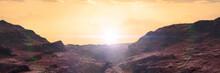 Landscape On Planet Mars