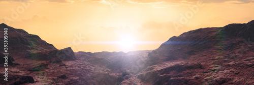 landscape on planet Mars Canvas
