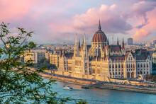 Aerial View Of Budapest Parlia...