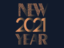 2021 Happy New Year Floral Font Type Text Vector Design