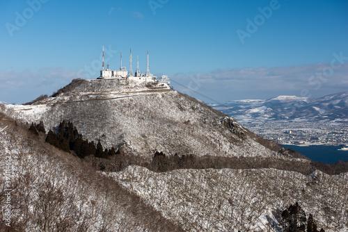 Mt. Hakodate, Hokkaido, Japan in Winter