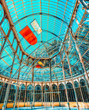 Indoor view of Crystal Palace (Palacio de Cristal) in Buen Park