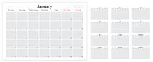 2021 Vector Calendar