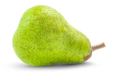 Fresh Green Pear Fruit Isolated On White Background