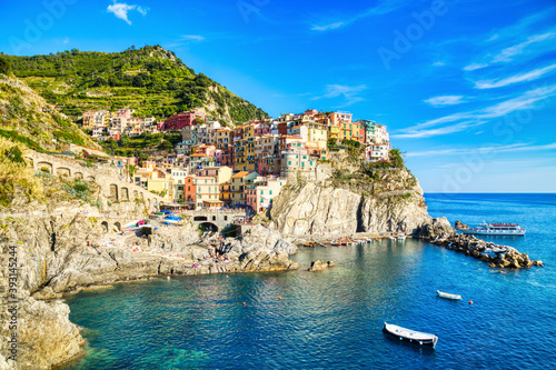 Fototapety, obrazy: Manarola Village during a Beautiful Sunny Day, Cinque Terre