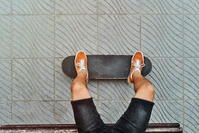 Anonymous Crop Male Relaxing O...