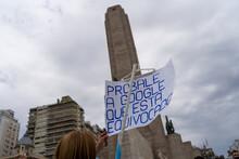ROSARIO, ARGENTINA - Nov 09, 2020: Rosario, Argentina - 11/08/2020: People Protesting Against The Quarantine, Corruption An Injustice