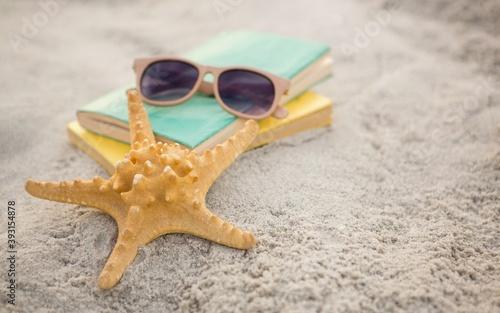 Fototapeta starfish on the sand
