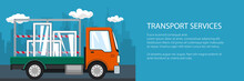 Banner Of Lorry, Small Truck T...