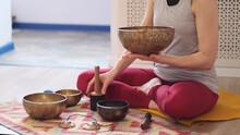 Woman Playing On Tibetan Singi...