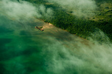 Aerial View Of Forest, Beaches And Farmland