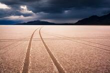Tire Imprints On Bonneville Sa...