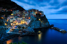 Colorful Houses On Rock By Med...