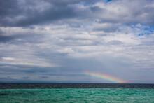 Scenic View Of Rainbow Over Horizon