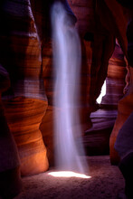 Scenic View Of Beam Of Light In Upper Antelope Canyon
