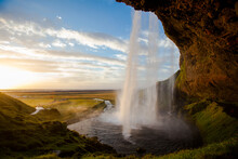 Scenic View Of Seljalandsfoss ...