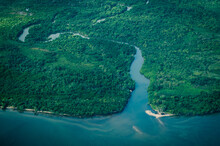 Aerial View Of Forest, Beaches...