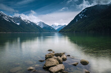 Scenic View Of Lake With Mount...