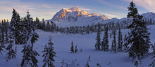 Scenic View Of Mount Shuksan In Mount Baker Snoqualmie National Forest