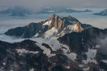 View Of Roost Illuminated In North Cascades National Park During Sunrise