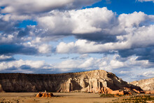 View Of Clouds Over Sandstone Mountains In Kodachrome Basin State Park