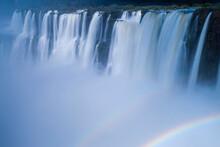 Scenic View Of Rainbow Below I...