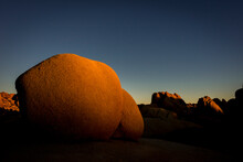 Scenic View Of Rock Formations During Sunrise In Joshua Tree National Park