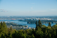 View Of North Vancouver, Lions Gate Bridge, Stanley Park And Downtown Vancouver