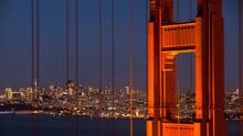 Golden Gate Bridge With City I...