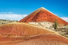 Scenic View Of Painted Hills In John Day Fossil Beds National Monument