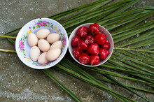 Overhead View Of Eggs And Frui...