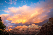 Scenic View Of Zion National P...