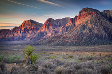 Scenic View Of Red Rock Canyon...