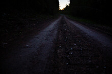 A Country Road Rambles In To T...