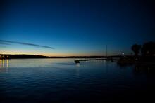 Night Shot Of Northern Sea Wit...