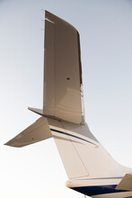 Tail Section Of Gulfstream Private Jet