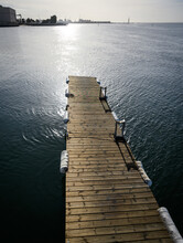 Vertical Shot Of Wooden Deck T...