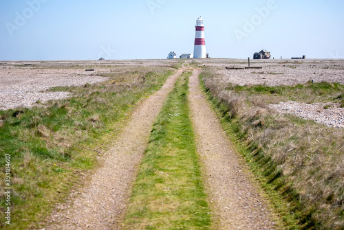 Fotografiet The lighthouse at Orford Ness on the Suffolk coast, UK