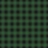 Lumberjack plaid seamless pattern. Vector illustration. Dark green color. Textile template. - 393187811