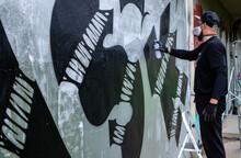 Graffiti Artist In Action, Sta...