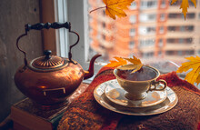 A Beautiful Vintage Copper Tea...
