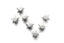 Gray Origami Stars
