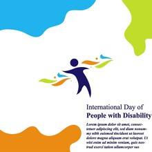 International Day Of Person With Disability Vektor Eps 10
