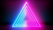 3D Glowing Neon Dual Tone With Blue And Pink Light