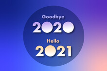 Goodbye 2020 Hello 2021 Banner, Poster, Card