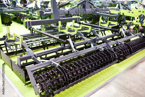 Fototapeta Cultivator for seedbed preparation on exhibition