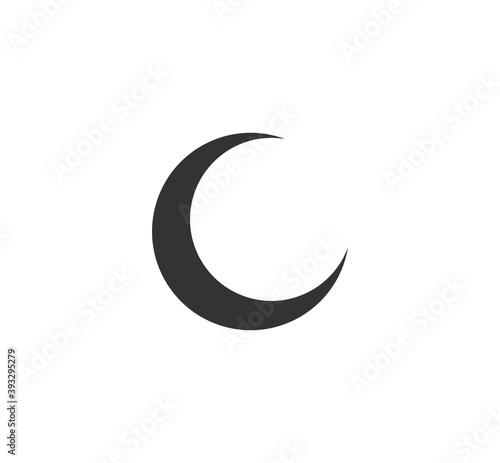 Fotografia, Obraz Flat style nighttime half moon icon