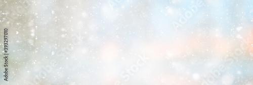 abstract white light blurred snow background, glamor christmas glow design Fototapet