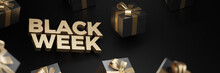 3d Rendering Of Black Week Sup...