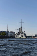 Russian Cruiser Aurora In Saint-Petersburg